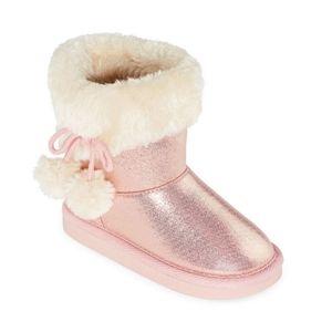 Okie Dokie Pink Metallic Toddler Girl Boots Sz 8